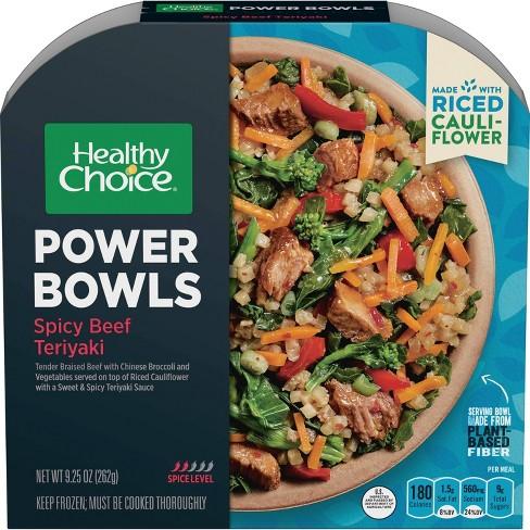 Healthy Choice Gluten Free Frozen Power Bowls Spicy Beef Teriyaki with Cauliflower Rice - 9.25oz - image 1 of 3
