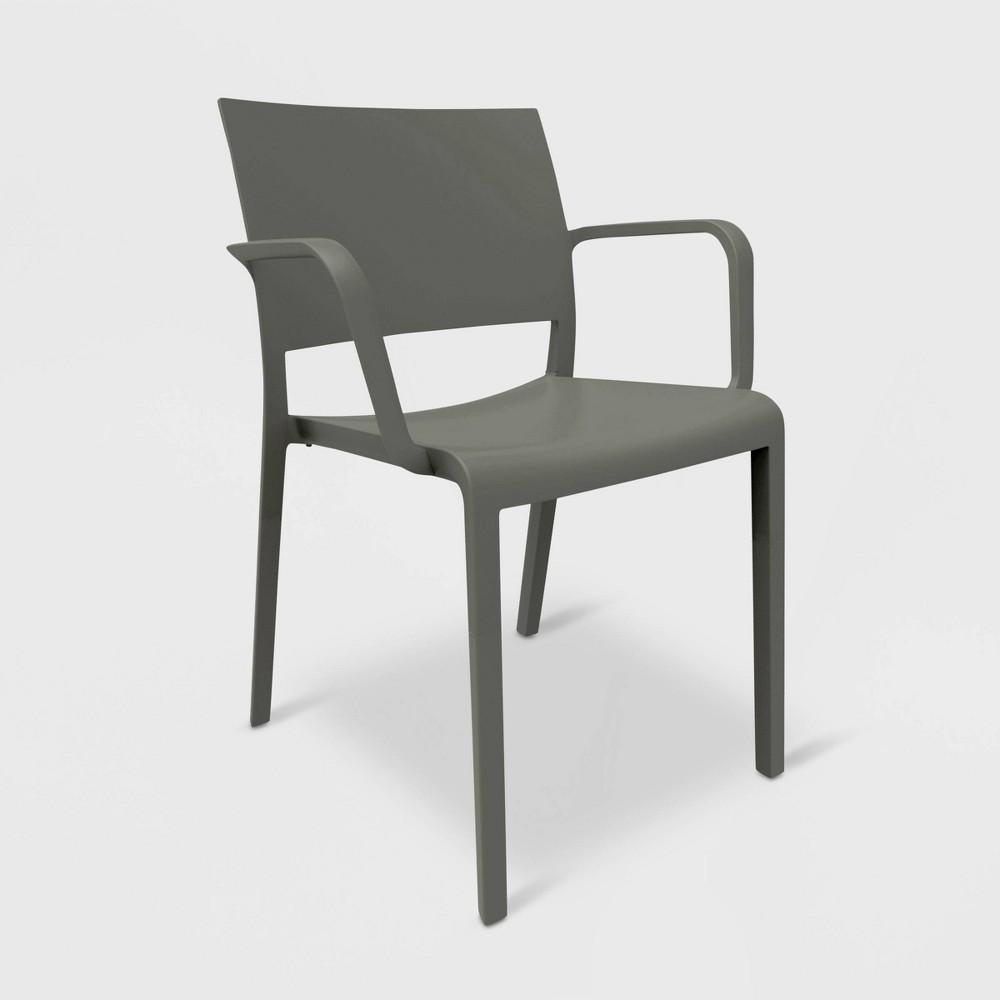 Image of New Fiona 2pk Patio Armchair - Dark Gray - RESOL