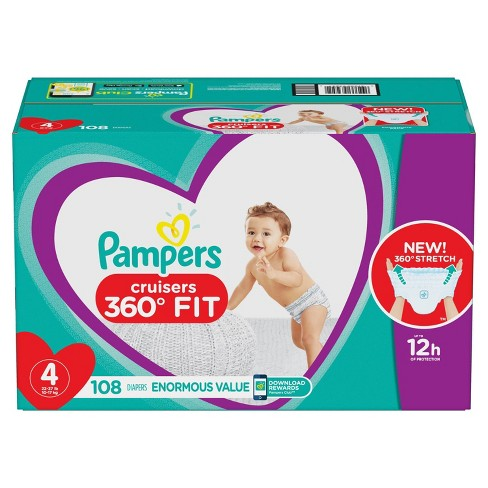 Pampers Cruisers 360 Disposable Diapers Enormous Pack (Select Size) - image 1 of 7