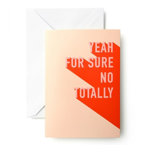 """Smirk """"Yeah For Sure No Totally"""" Stationery 10ct - image 1 of 1"""