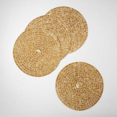 Paper Woven Placemat Golden Brass - Opalhouse™