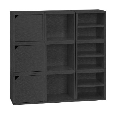 Way Basics 9 Cubby Stackable Connect Cube System Modular Storage Bookcase - Lifetime Guarantee