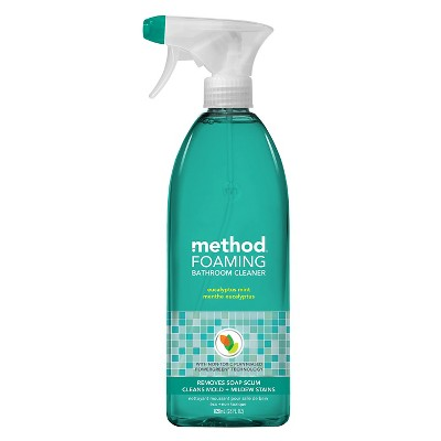 Method Cleaning Products Foaming Bathroom Cleaner Eucalyptus Mint Spray Bottle 28 fl oz