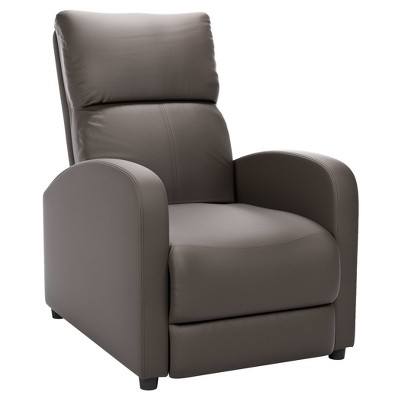 Moor Brownish - Gray Bonded Leather Recliner - Corliving