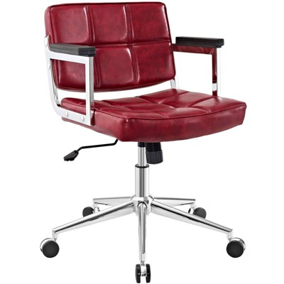 Portray Mid Back Upholstered Vinyl Office Chair - Modway