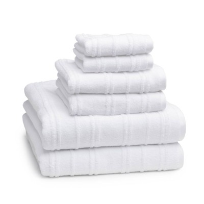 6pc Astor Towel Set White - Cassadecor