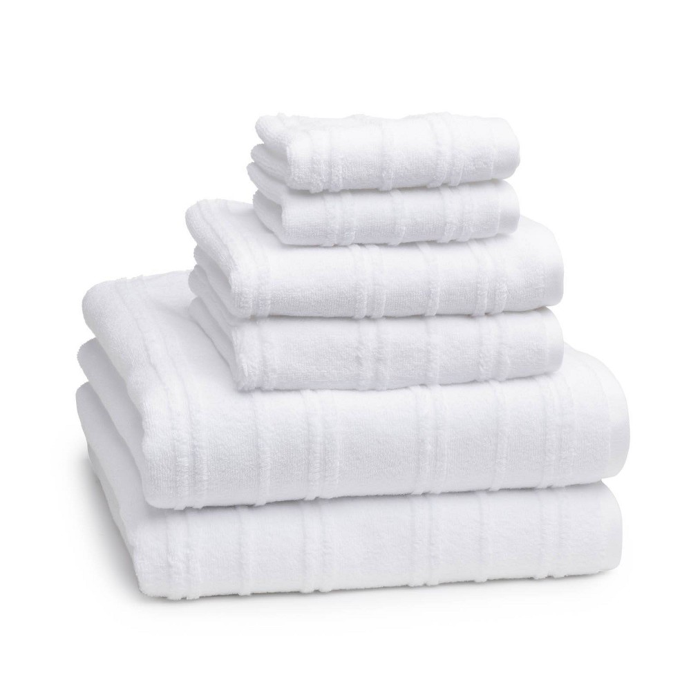 Image of 6pc Astor Towel Set White - Cassadecor