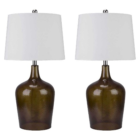 Abbyson Living Delmore Smoked Glass Table Lamp (Set of 2) - Brown - image 1 of 3