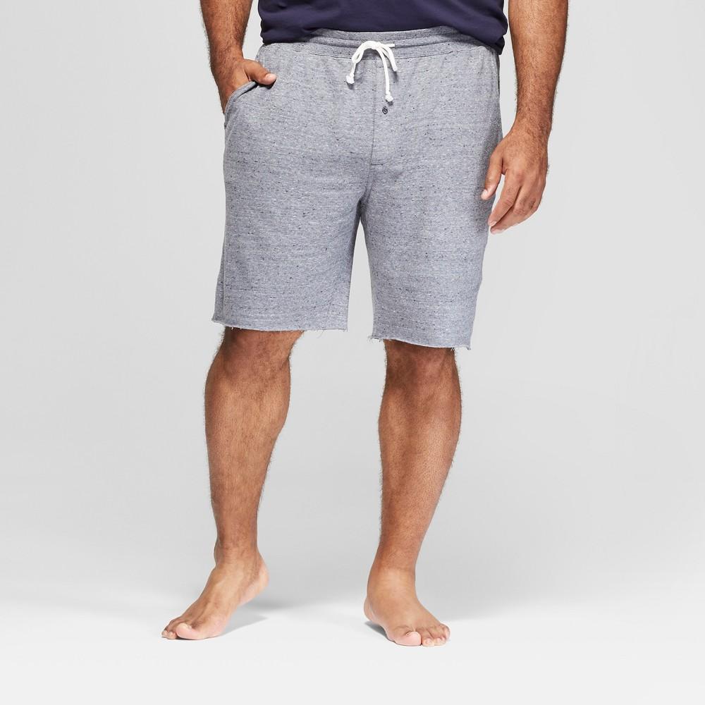 Men's Big & Tall French Terry Pajama Shorts - Goodfellow & Co Heather Gray 3XB