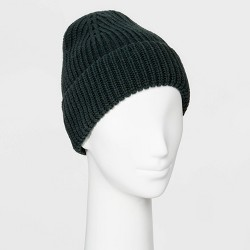 Women's Shaker Stitch Knit Cuff Beanie - A New Day™ One Size