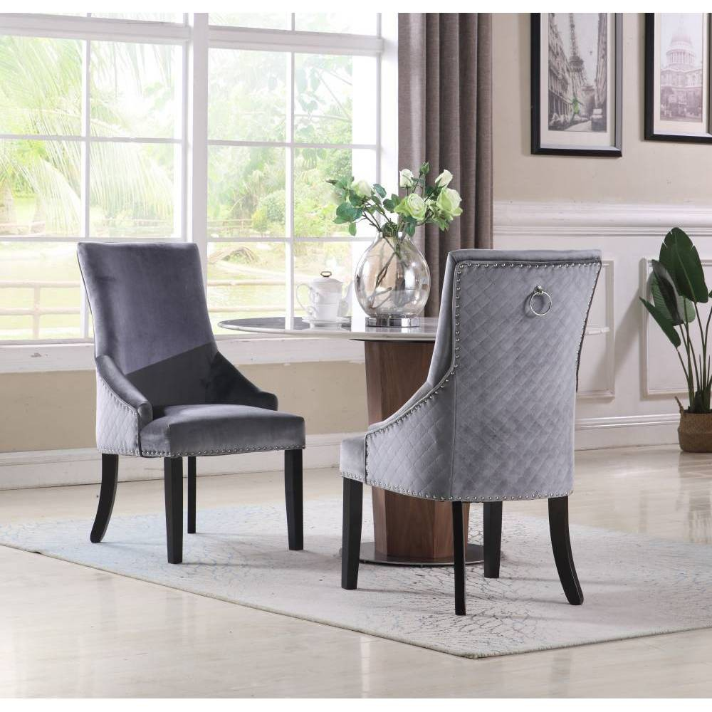 Set of 2 Moishe Dining Chair Gray - Chic Home Design was $449.99 now $314.99 (30.0% off)