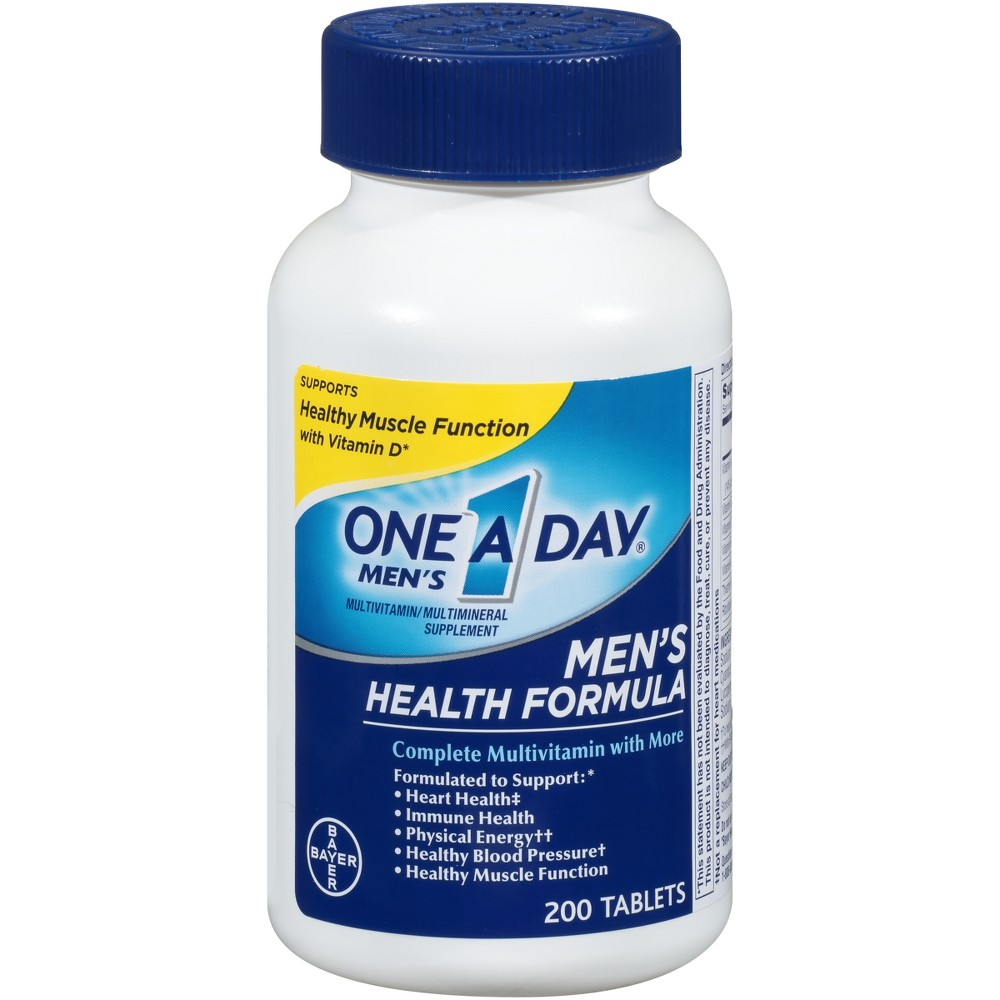 One A Day For Men Multivitamin / Multimineral Dietary Supplement Tablets - 200ct