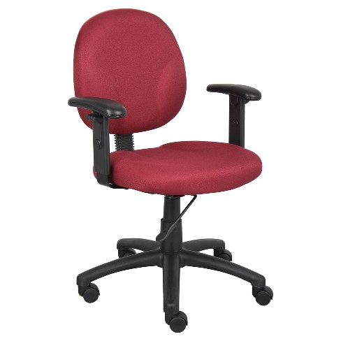 Diamond Task Chair with Adjustable Arms Burgundy - Boss Office Products - image 1 of 1