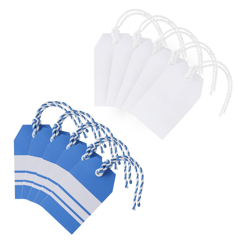 Image of 10ct Gift Tags Blue/White - Spritz