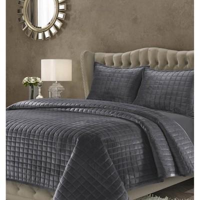 Florence Velvet Oversized Quilt Set - Tribeca Living