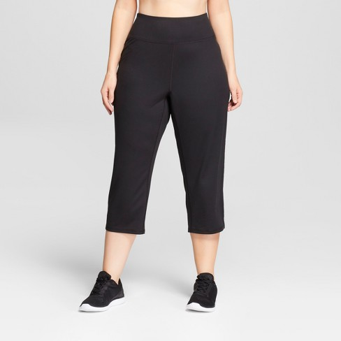 Women's Plus Size Freedom Relaxed Mid-Rise Capri Leggings - C9 Champion® Black - image 1 of 2