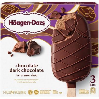 Haagen-Dazs Chocolate-Dark Chocolate Ice Cream Bar - 3pk