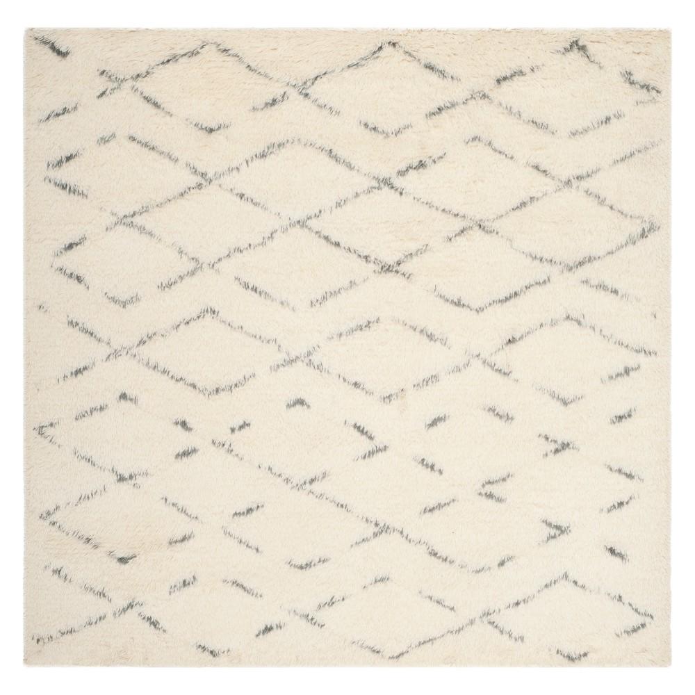 6X6 Geometric Square Area Rug Ivory/Gray - Safavieh Cheap