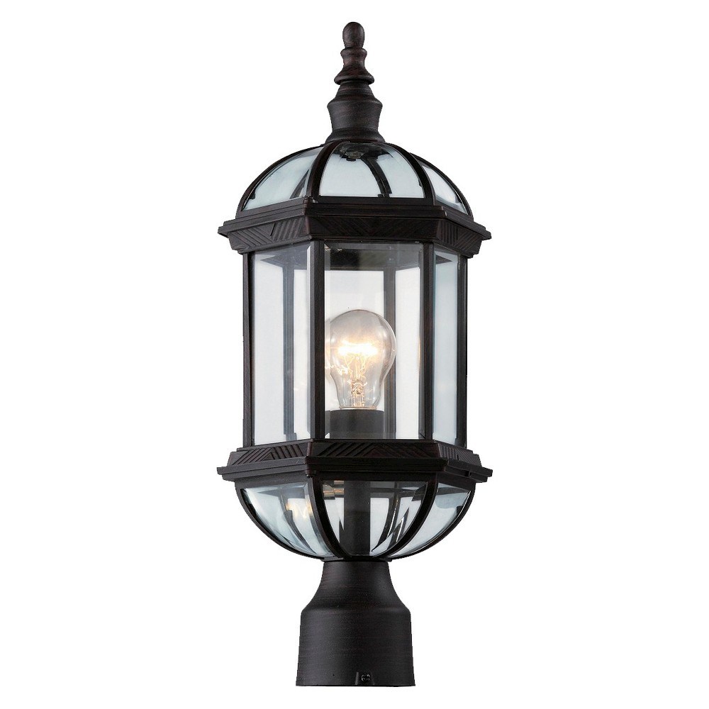 "Image of ""Arboretum 20"""" Outdoor Post Top Lantern in Rust"""