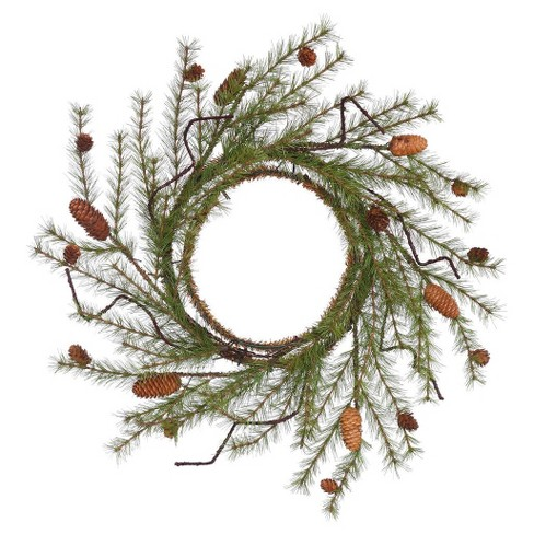 "24"" Christmas Unlit River Pine Artificial Wreath - image 1 of 1"