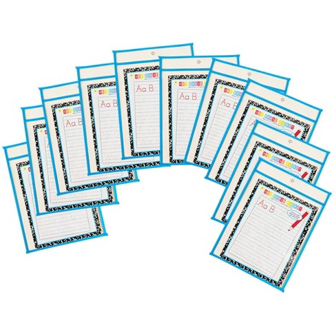 10pk Dry Erase Pocket Blue - Bullseye's Playground™ - image 1 of 1