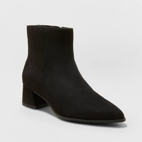 Women's Delilah Heeled Ankle Boots - A New Day™ - image 1 of 4