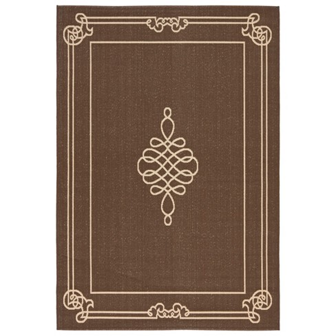 Talence Outdoor Rug - Chocolate / Cream - Safavieh® - image 1 of 1