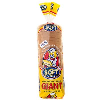 Soft 'N Good Giant White Bread - 24oz