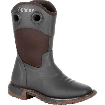 Rocky Little Kid's Brown Rubber Western Boot