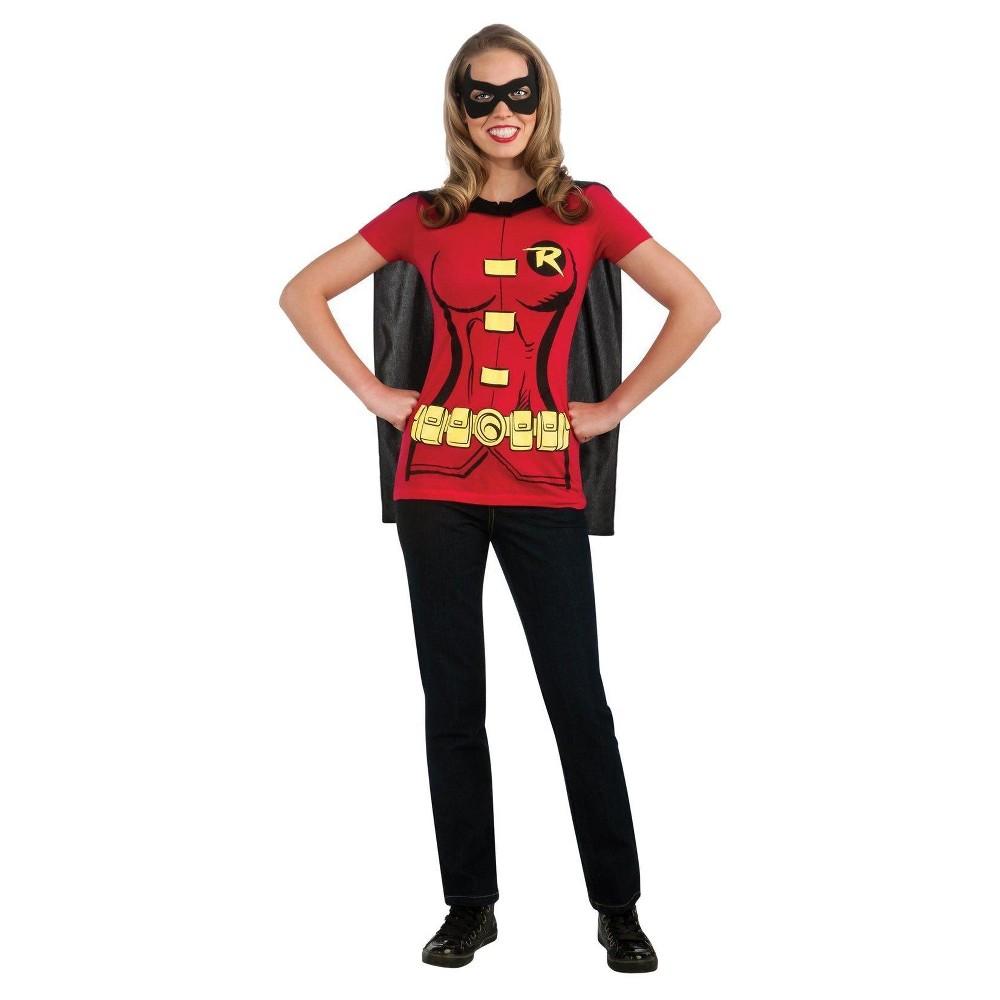 Women's Robin T-Shirt Costume Medium, Red