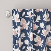 Unlined Silhouette Floral Light Filtering Curtain Panel Navy/Blush - Cloth & Co. - image 2 of 5