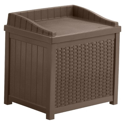 Resin Wicker Storage Seat - Brown - Suncast