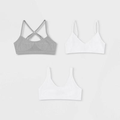 Hanes Girls' 3pk Multi Style Bra