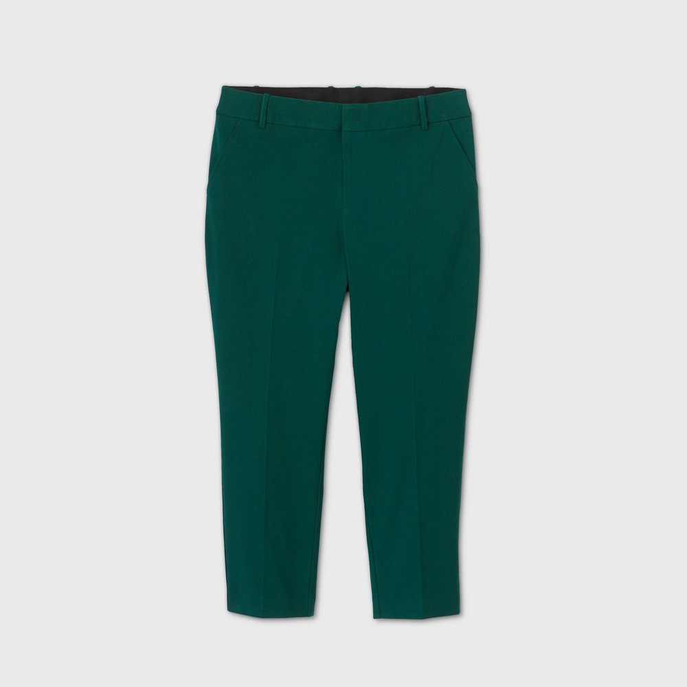 Women 39 S Plus Size Mid Rise Ankle Length Pants Ava 38 Viv 8482 Green 22w