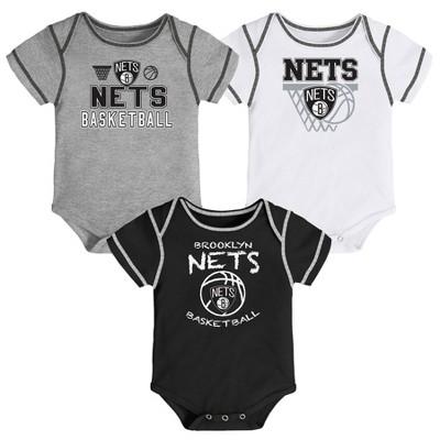NBA Brooklyn Nets Baby Boys' Onesies Bodysuit 3pk
