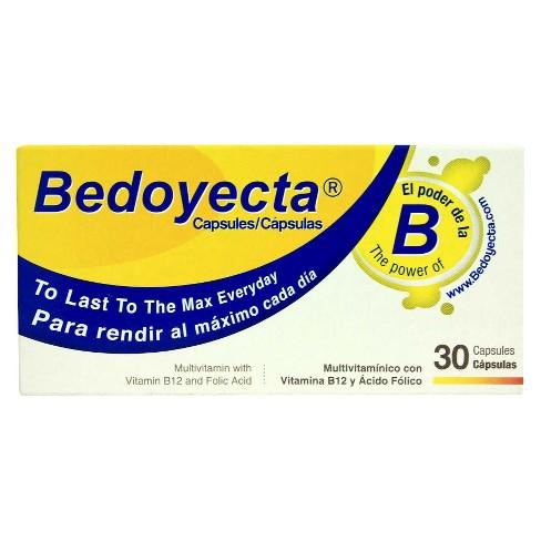 Bedoyecta Multivitamin Capsules with B12 and Folic Acid Dietary Supplement Capsules - 30ct - image 1 of 1