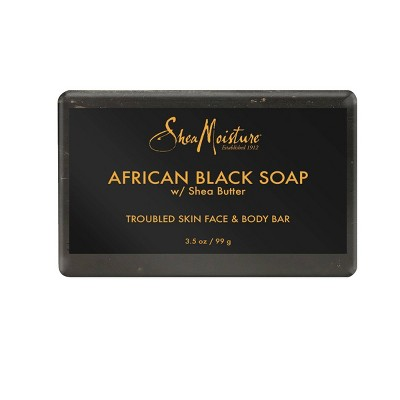 Sheamoisture African Black Soap Face And Body Bar Soap - 3.5oz