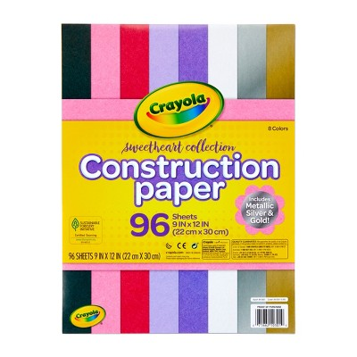 """Crayola 96 Sheets 9"""" x 12"""" Construction Paper - Sweetheart Collection"""