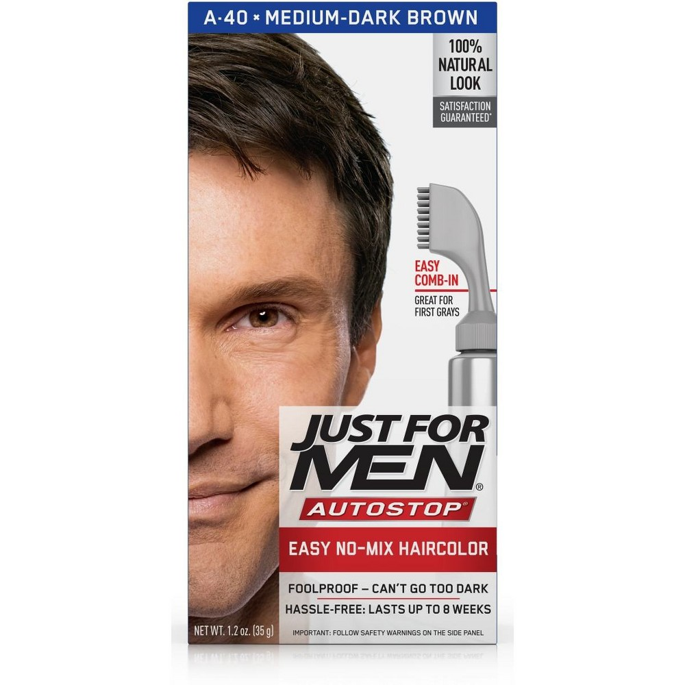 Image of Just For Men AutoStop Med-Dark Brown A-40, Medium-Dark Brown A-40