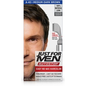 Just For Men AutoStop Med-Dark Brown A-40, Medium-Dark Brown A-40