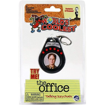 Super Impulse World's Coolest The Office Dwight Talking Keychain   6 Quotes