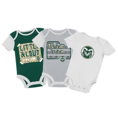 NCAA Colorado State Rams Baby Boys' 3pc Bodysuit Set