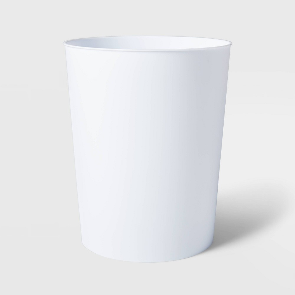Image of Solid Bathroom Wastebasket White - Room Essentials