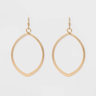 Metal Cut Out Teardrop Hoop Earrings - Universal Thread™