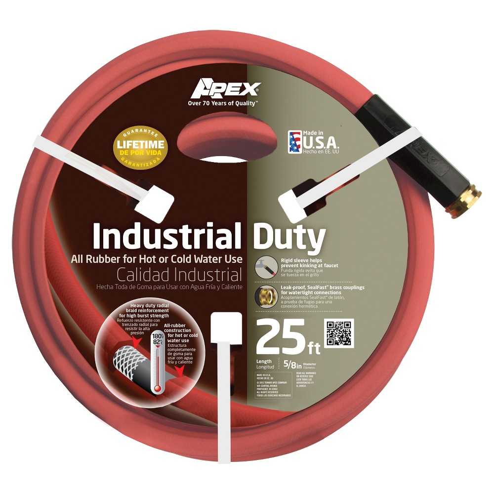 5/8 x 25' Apex Industrial Duty Hose, Red