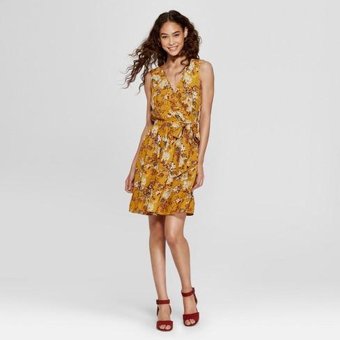 a9ef71fd0beac Women s Sleeveless Floral Wrap Tie Waist Dress - Xhilaration™