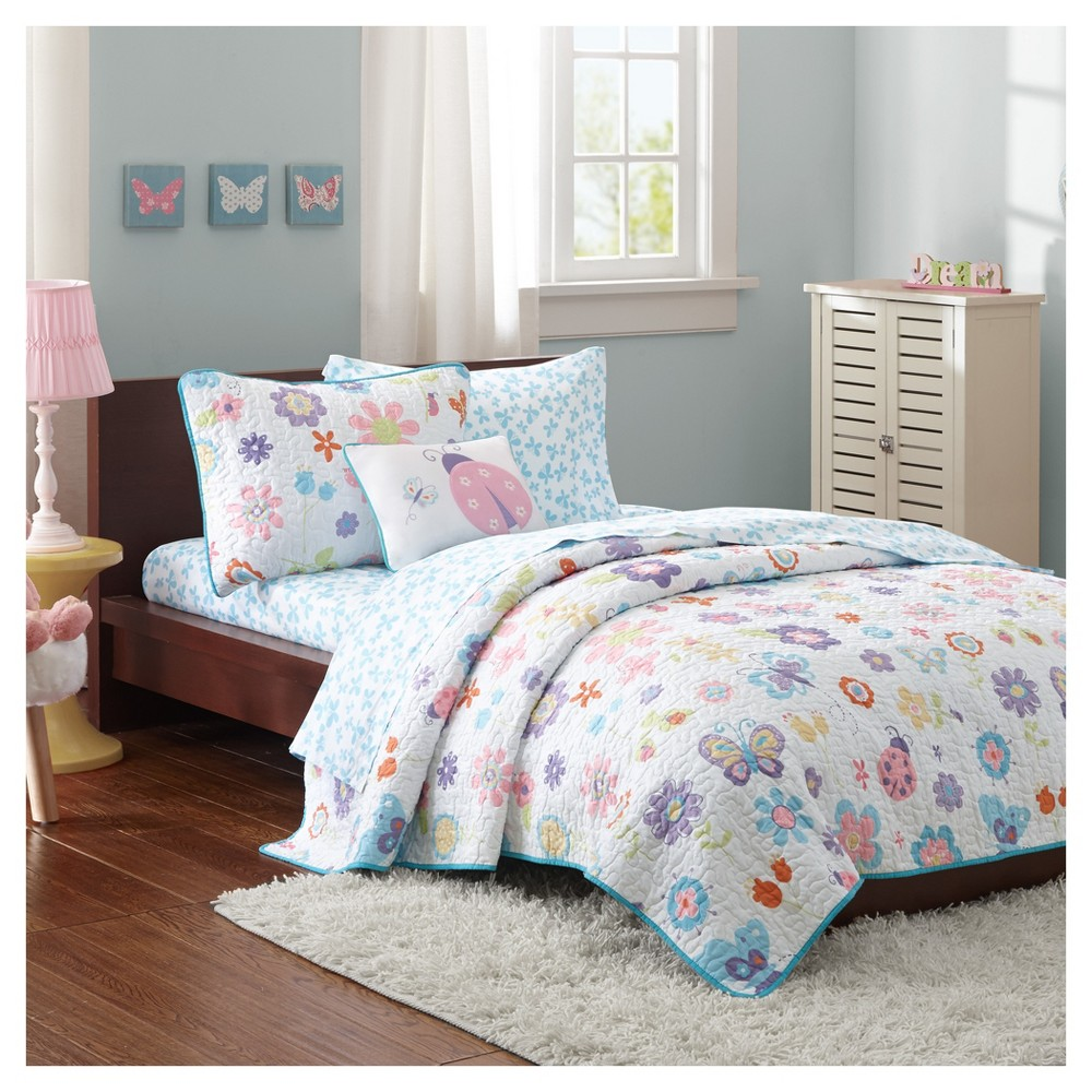 Majestic Mia Quilt And Sheet Set Twin 6pc