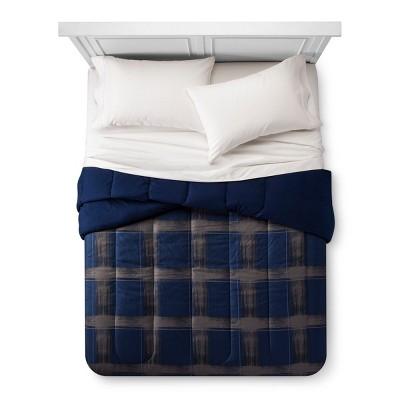 Plaid Comforter (Full/Queen)Blue - Room Essentials™
