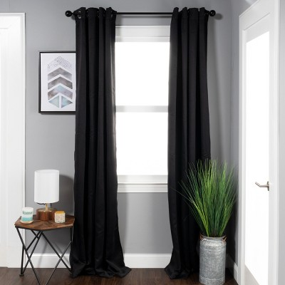 Thermal Insulated Blackout 2-Piece Curtain Panel Set with Grommet Topper - Blue Nile Mills