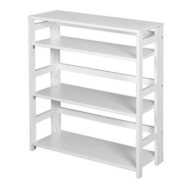 "34"" Cakewalk High Folding Bookcase White - Regency"